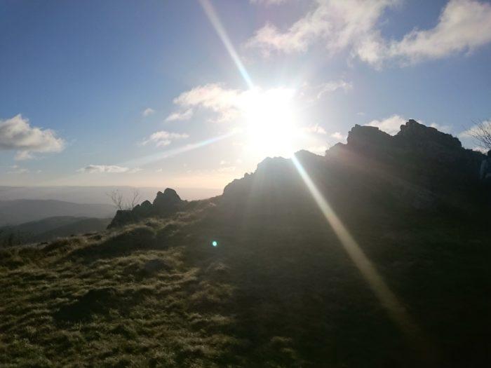 soleil montagne