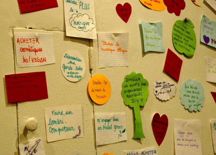 mur bonnes résolutions green