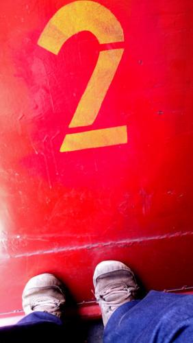 Ma place préférée dans les trains sri lankais