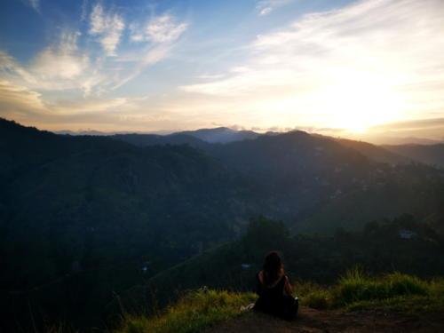 Coucher de soleil au sommet du Little Adam's Peak